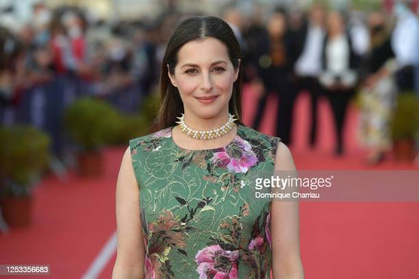 Amira Casar attends a photocall prior to the closing ceremony of the 34th Cabourg Film Festival on June 29 2020 in Cabourg France