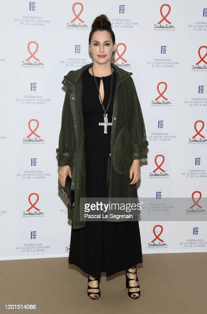 Amira Casar attends Sidaction Gala Dinner 2020 At Pavillon Cambon on January 23 2020 in Paris France