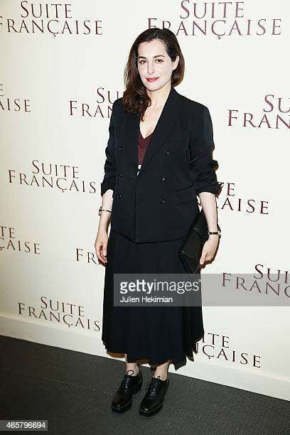 Amira Casar attends 'Suite Francaise' Premiere at Cinema UGC Normandie on March 10 2015 in Paris France