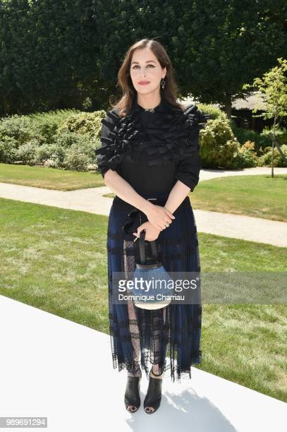 Amira Casar attends the Christian Dior Couture Haute Couture Fall/Winter 20182019 show as part of Haute Couture Paris Fashion Week on July 2 2018 in...