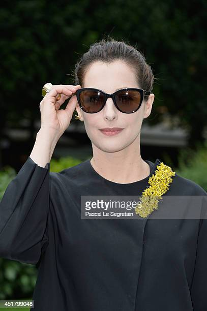 Amira Casar attends the Christian Dior show as part of Paris Fashion Week Haute Couture Fall/Winter 20142015 on July 7 2014 in Paris France
