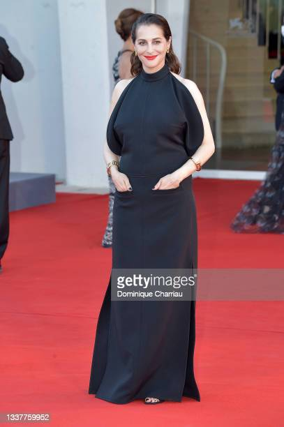 """Amira Casar attends the red carpet of the movie """"Madres Paralelas"""" during the 78th Venice International Film Festival on September 01, 2021 in..."""