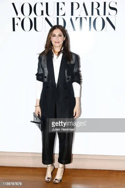 Amira Casar attends the Vogue diner as part of Paris Fashion Week Haute Couture Fall Winter 2020 at Le Trianon on July 02 2019 in Paris France