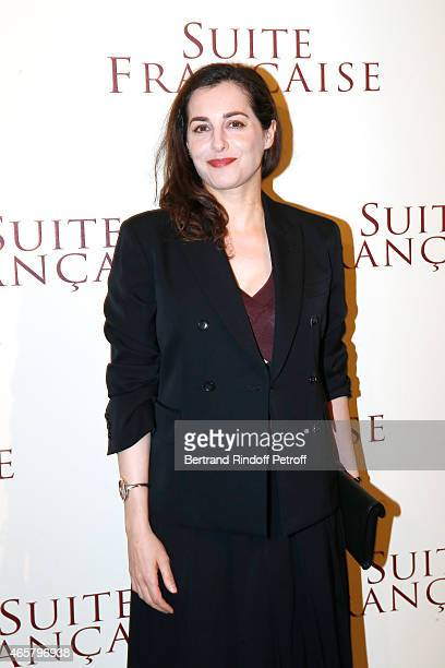 Amira Casar attends the world premiere of 'Suite Francaise' at Cinema UGC Normandie on March 10 2015 in Paris France