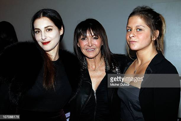 Amira Casar Babeth Djian and her daughter attend the Babeth Djian Charity Dinner for AEM Rwanda at Espace Cardin on November 21 2010 in Paris France