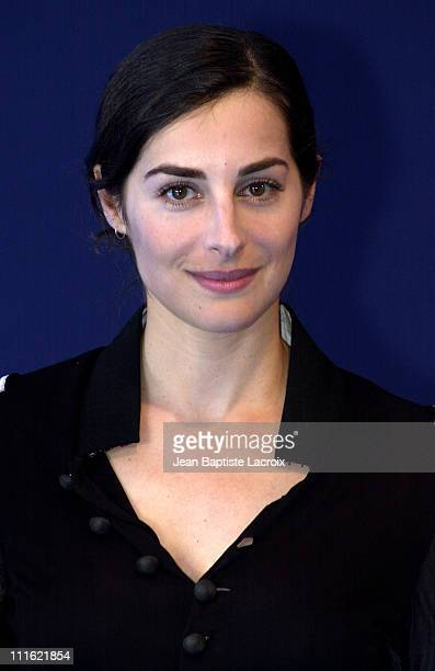 Amira Casar during Deauville 2002 'Hypnotized and Hysterical '/'Filles perdues cheveux gras' Photocall at CID Deauville in Deauville France