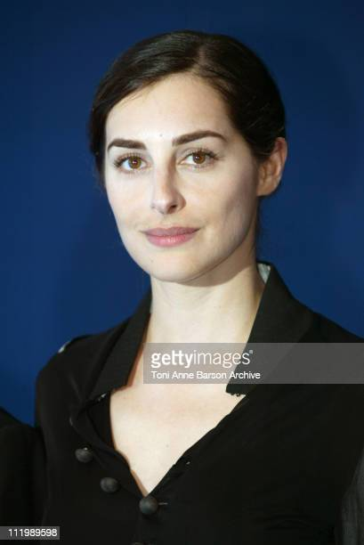 Amira Casar during Deauville 2002 'Hypnotized and Hysterical ' / 'Filles perdues cheveux gras' Photocall at CID Centre International de Deauville in...