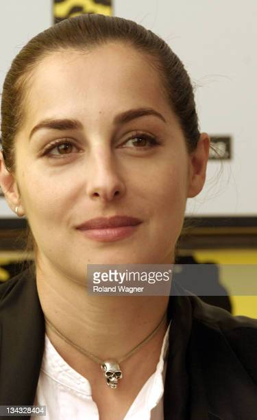 Amira Casar during Filmfestival Locarno 2005 'The Piano Tuner of Earthquakes' Press Conference at Press Centre in Locarno Switzerland