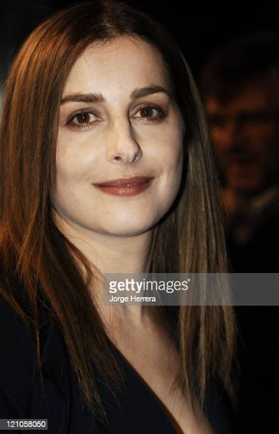 Amira Casar during La Vie En Rose London Premiere Arrivals at Curzon Mayfair in London Great Britain
