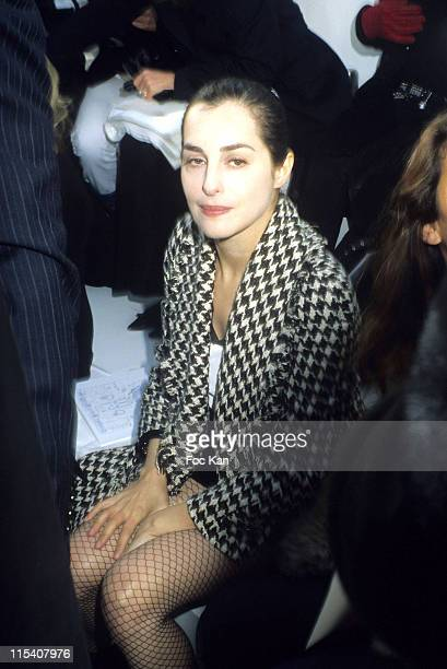 Amira Casar during Paris Fashion Week Haute Couture Spring Summer 2006 Chanel at Grand Palais in Paris France