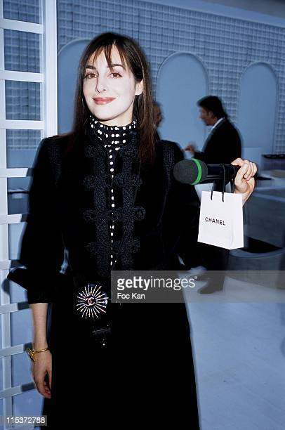 Amira Casar during Paris Fashion Week Haute Couture Spring/Summer 2005 Chanel at Front Row Ateliers Berthier in Paris France