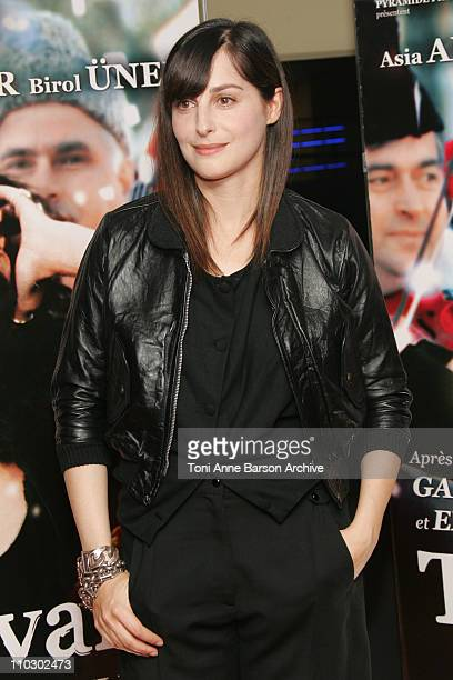 Amira Casar during 'Transylvania' Premiere Arrivals at UGC CIne Cite Les Halles in Paris France