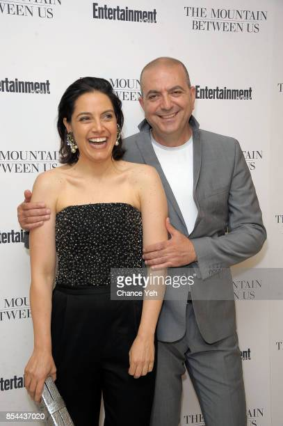 Amira Diab and director Hany AbuAssad attend 'The Mountain Between Us' special screening at Time Inc Screening Room on September 26 2017 in New York...