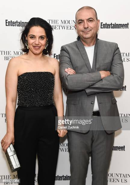 Amira Diab and director Hany AbuAssad attend the special screening of 'The Mountain Between Us' at Time Inc Screening Room on September 26 2017 in...
