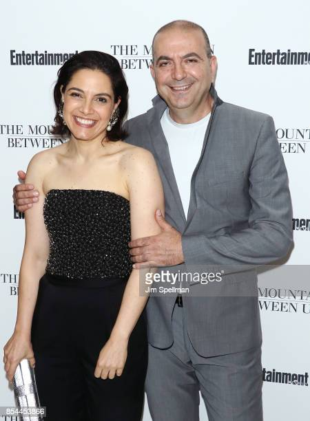 Amira Diab and director Hany AbuAssad attend the 'The Mountain Between Us' special screening at Time Inc Screening Room on September 26 2017 in New...
