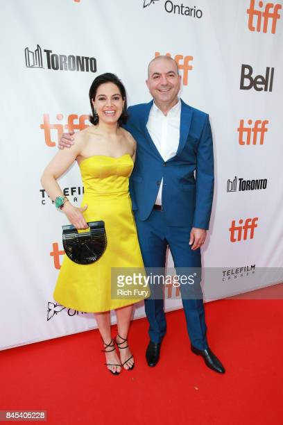 Amira Diab and Hany AbuAssad attends 'The Mountain Between Us' premiere during the 2017 Toronto International Film Festival at Roy Thomson Hall on...