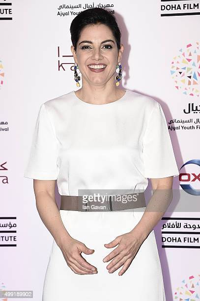 Amira Diab attends the regional premiere of The Idol co financed by the Doha Film Institute on the opening night of the third annual Ajyal Youth Film...