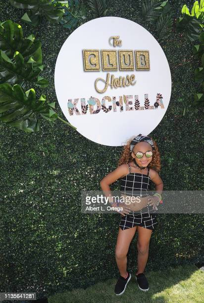 Amira Johnson arrives for Clubhouse Kidchella held at Pershing Square on April 6 2019 in Los Angeles California