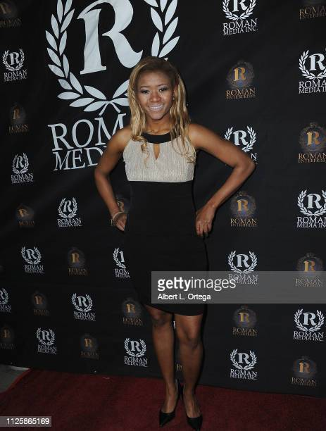 Amira Lumbly arrives for Roman Media's 5th Annual Hollywood Event A Celebration of Women and Diversity in Film held at St Felix on February 18 2019...