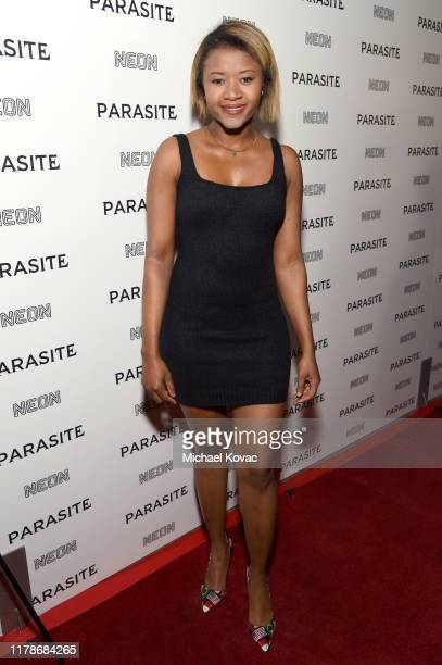 Amira Lumbly attends the Los Angeles Premiere of Parasite on October 02 2019 in Hollywood California