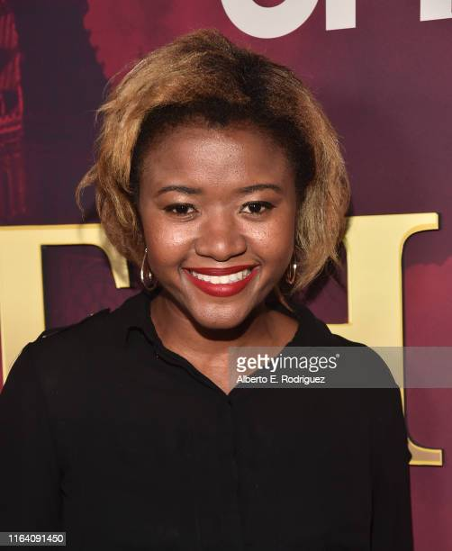 Amira Lumbly attends the premiere of Epix's Pennyworth at Harmony Gold on July 24 2019 in Los Angeles California
