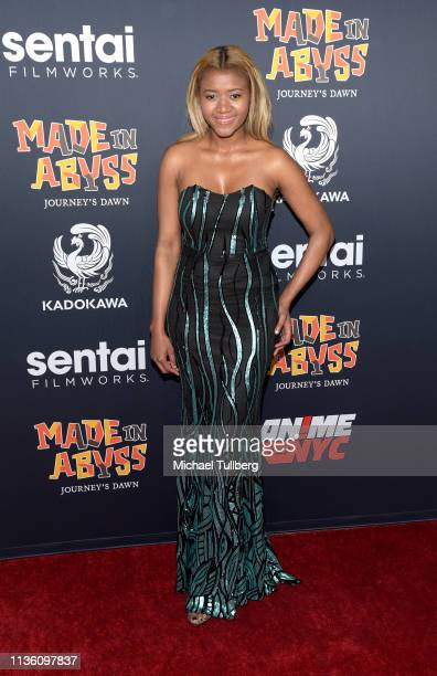 Amira Lumbly attends the premiere of Sentai Filmworks' Made In Abyss Journey's Dawn at Regal Cinemas LA Live on March 15 2019 in Los Angeles...