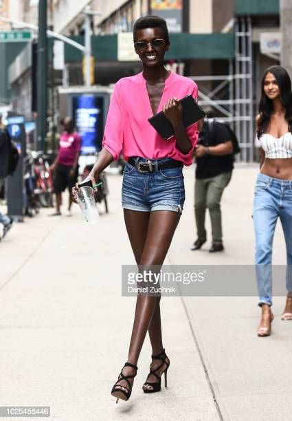 Amira Pinheiro attends the casting for the 2018 Victoria's Secret Fashion Show in Midtown on August 30 2018 in New York City