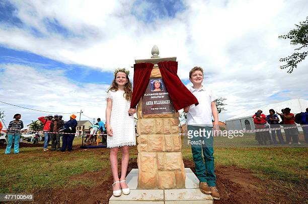 Amira Willighagen at the opening of a playground on March 5 2014 in Potchefstroom South Africa The 9yearold was a hit on YouTube after she received a...