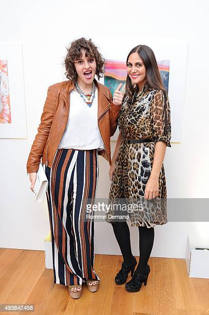 Amirah Kassem and Sabine Heller attend Gus Al Party Launching #yes Collection including Jeff Koons Limited Edition Collaboration on October 22 2015...