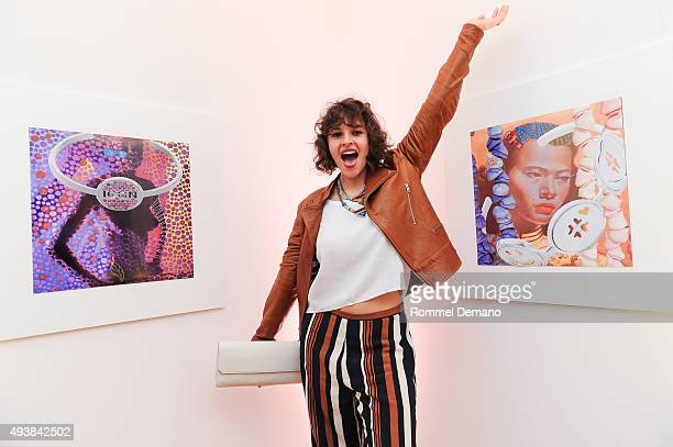 Amirah Kassem attends Gus Al Party Launching #yes Collection including Jeff Koons Limited Edition Collaboration on October 22 2015 in New York City
