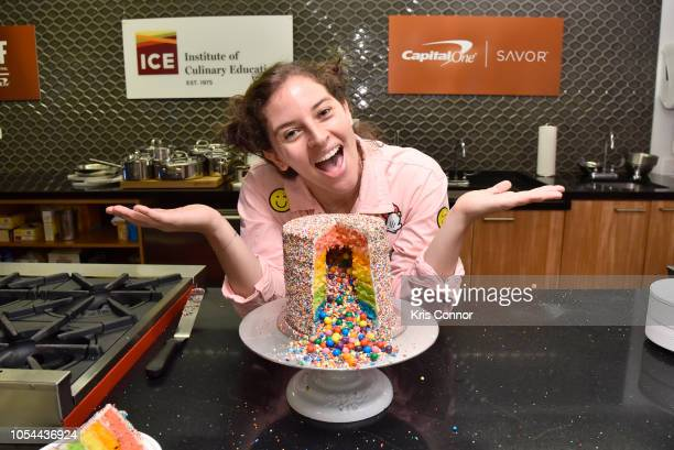 Amirah Kassem attends the Cake Decorating Master Class at Institute of Culinary Education on October 13 2018 in New York City