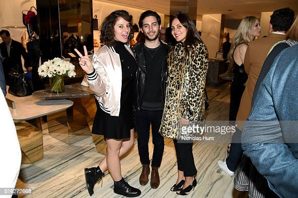 Amirah Kassem Ross Harrow and Sabine Heller attend as Barneys New York celebrates its new downtown flagship in New York City on March 17 2016 in New...