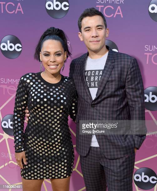 Amirah Vann and Conrad Ricamora arrive at ABC's TCA Summer Press Tour Carpet Event on August 5 2019 in West Hollywood California