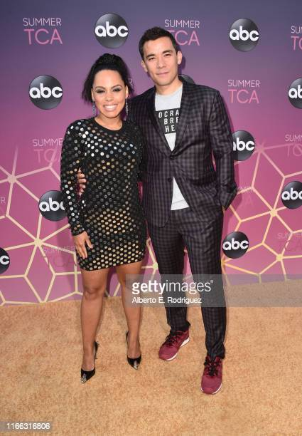 Amirah Vann and Conrad Ricamora attend ABC's TCA Summer Press Tour Carpet Event on August 05 2019 in West Hollywood California