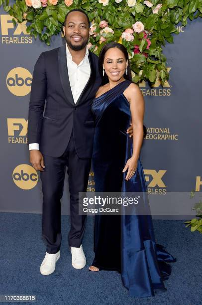 Amirah Vann and Patrick Oyeku arrive at the Walt Disney Television Emmy Party on September 22 2019 in Los Angeles California