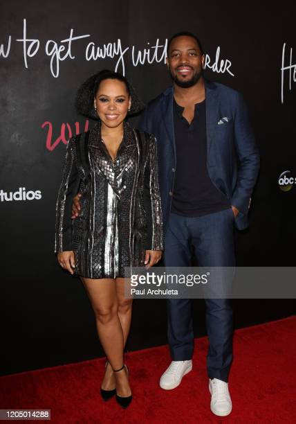 Amirah Vann and Patrick Oyeku attend the premiere of the series finale of ABC's How To Get Away With Murder' at Yamashiro Hollywood on February 08...