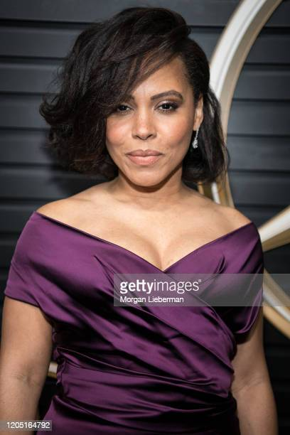 Amirah Vann arrives at the 2020 MercedesBenz Annual Academy Viewing Party at Four Seasons Los Angeles at Beverly Hills on February 09 2020 in Los...