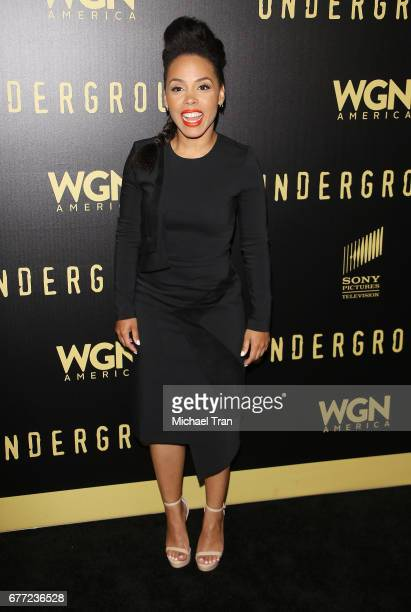 """Amirah Vann arrives at WGN America's """"Underground"""" FYC event held at The Landmark on May 2, 2017 in Los Angeles, California."""