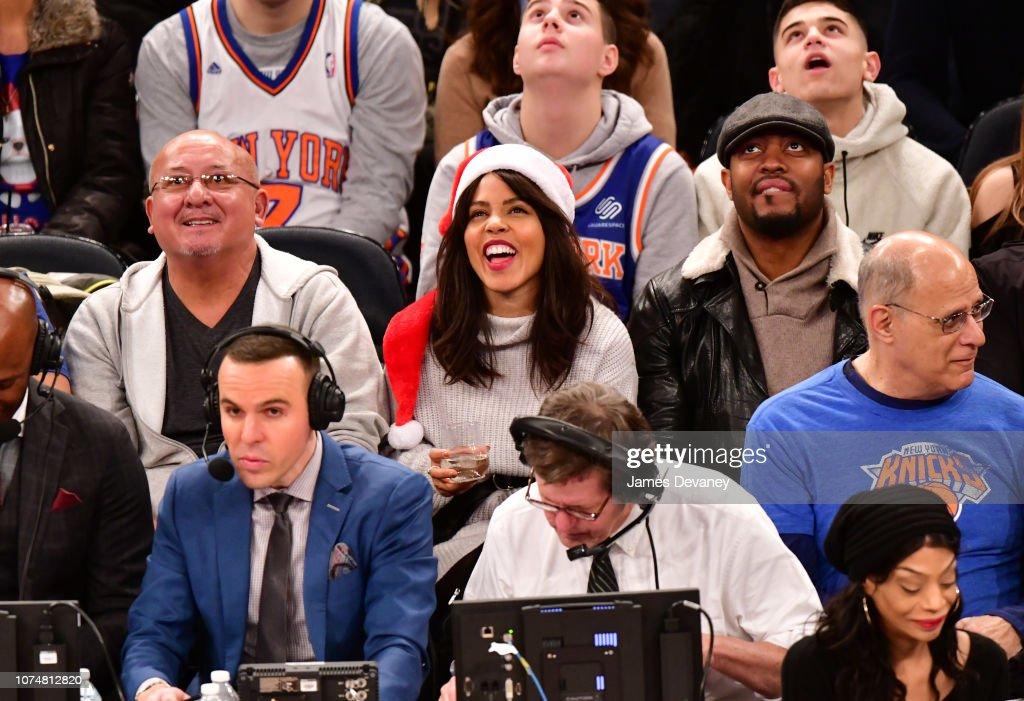 Celebrities Attend Milwaukee Bucks v New York Knicks : News Photo