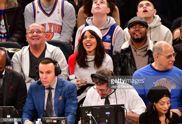 Amirah Vann attends Milwaukee Bucks v New York Knicks game at Madison Square Garden on December 25 2018 in New York City