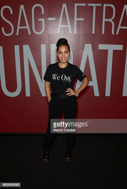 Amirah Vann attends SAGAFTA Foundation Coversations with Aisha Hinds Alano Miller Amirah Vann and DeWanda Wise of 'Underground' at SAGAFTRA...