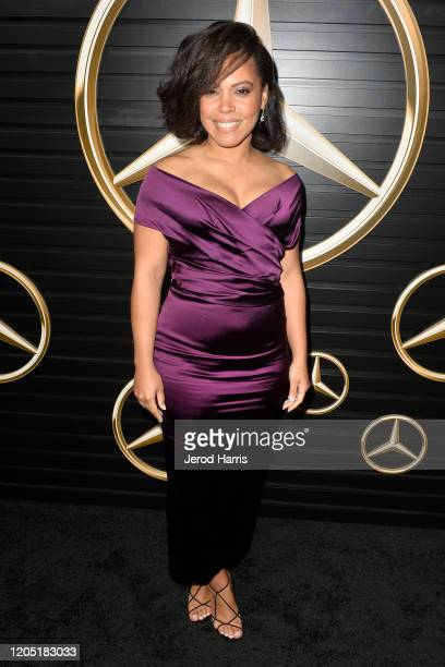 Amirah Vann attends the 2020 MercedesBenz Annual Academy Viewing Party at Four Seasons Los Angeles at Beverly Hills on February 09 2020 in Los...