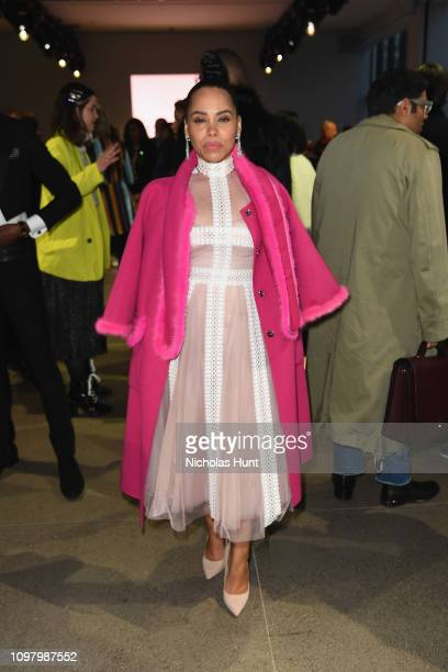 Amirah Vann attends the Bibhu Mohapatra front row during New York Fashion Week The Shows at Gallery II at Spring Studios on February 11 2019 in New...