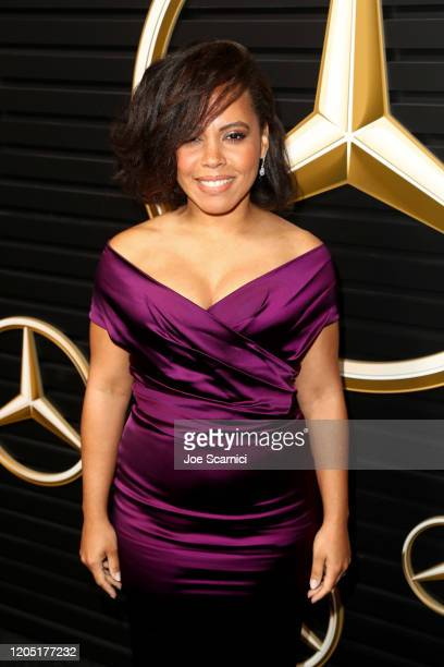 Amirah Vann attends the MercedesBenz Academy Awards Viewing Party at The Four Seasons Hotel Los Angeles at Beverly Hills on February 09 2020 in Los...
