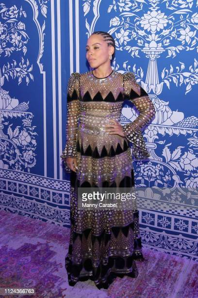Amirah Vann attends the Naeem Khan runway show in Gallery I of Spring Studios during New York Fashion Week The Shows at Spring Studios on February 12...