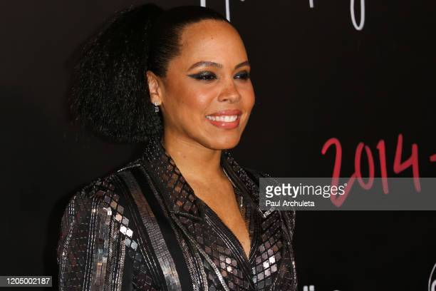 Amirah Vann attends the premiere of the series finale of ABC's How To Get Away With Murder' at Yamashiro Hollywood on February 08 2020 in Los Angeles...