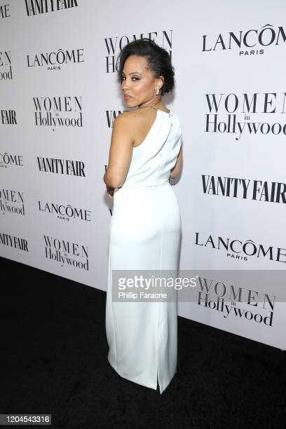 Amirah Vann attends Vanity Fair and Lancôme Toast Women in Hollywood on February 06 2020 in Los Angeles California