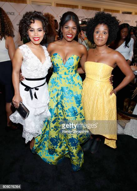Amirah Vann Edwina Findley Dickerson and guest attend the 2018 Essence Black Women In Hollywood Oscars Luncheon at Regent Beverly Wilshire Hotel on...