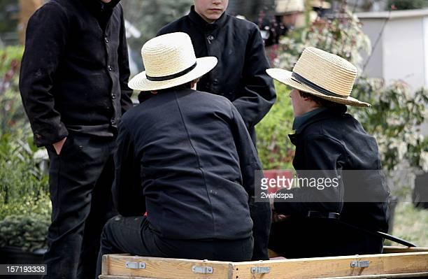 Amish Boys in Pennsylvania