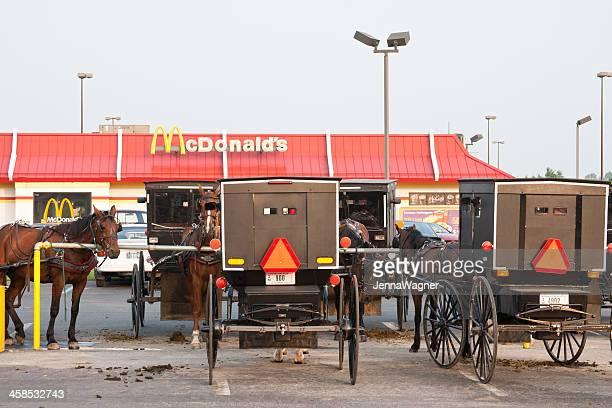 Kutschen auf dem McDonald's Amish